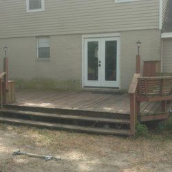 Before and After House Painting/ Deck Sealer in Metairie, LA. (1)